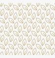 geometric floral leaf ornament line seamless vector image vector image