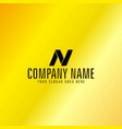 golden letter emblem vector image vector image