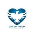 hawk or eagle logo design vector image vector image