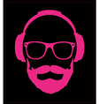Hipster style set glasses mustaches headphones vector image vector image