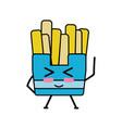 kawaii cute funny fries french food vector image