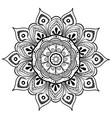 mandala design element round ornament vector image vector image