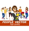 men and woman holding their babies smiling vector image vector image