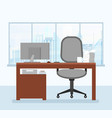 modern working place in vector image