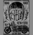 motorcycle helmet typography new york sports club vector image vector image