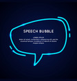 neon speech bubble and blank template for quotes vector image vector image
