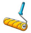 paint roller repair working tool vector image