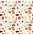 pirate stickers icons seamless pattern vector image vector image