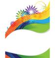 Rainbow flower frame vector image vector image