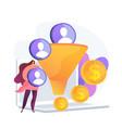 sales funnel concept metaphor vector image vector image