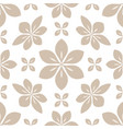 seamless pattern floral decoration vector image vector image