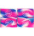 set abstract colorful backgrounds vector image