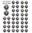 set buttons web vector image