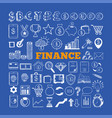 set of business and finance icons 2 vector image vector image