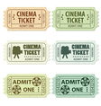 Set of cinema tickets vector | Price: 3 Credits (USD $3)