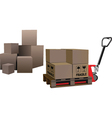storage boxes vector image vector image