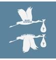 Storks set vector image vector image