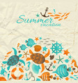 summer vacation wrinkled paper background vector image vector image