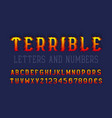 terrible letters and numbers with currency signs vector image vector image