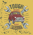 tough mojave desert california slogan good for vector image