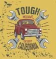 tough mojave desert california slogan good vector image
