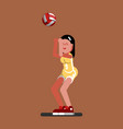volleyball female player vector image vector image