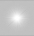 white beautiful glow light vector image vector image