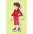 Woman in jumpsuit holding volleyball vector image