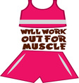 Work Out For Muscle vector image