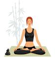 young woman doing yoga vector image vector image