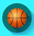 basketball flat icon sport vector image