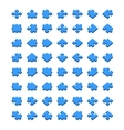 Big set of all type jigsaw pieces in different vector image