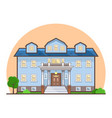 fancy flat cottage house vector image
