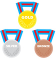 3 medals vector image vector image
