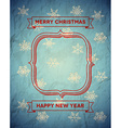 Aged frame with snowflakes vector image vector image