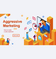 aggressive marketing services webpage vector image vector image