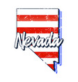 american flag in nevada state map grunge style vector image