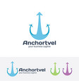 anchor travel logo design vector image vector image
