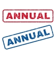Annual Rubber Stamps vector image vector image
