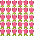 background with colored tulips vector image vector image