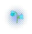 Bell flower icon comics style vector image vector image