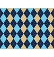 Blue beige white argyle seamless pattern vector image vector image