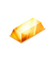 bright realistic glossy golden bar in isometric vector image vector image
