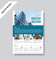 business corporate flyer template vector image vector image