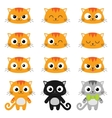 cartoon cat emotions vector image vector image