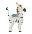 cartoon zebra indian a vector image vector image