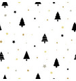christmas seamless pattern with black christmas vector image vector image