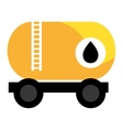 colorful cargo oil truck graphic vector image