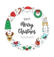 Colorful Christmas holidays frame with traditional vector image vector image
