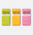 colorful set of chocolate bar package vector image vector image